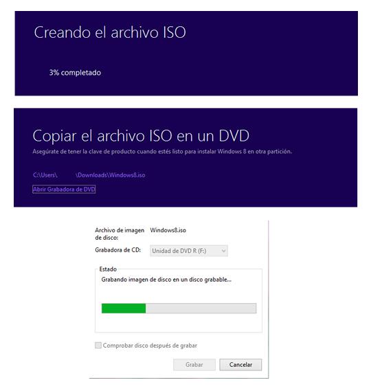Imagen iso de Windows 8