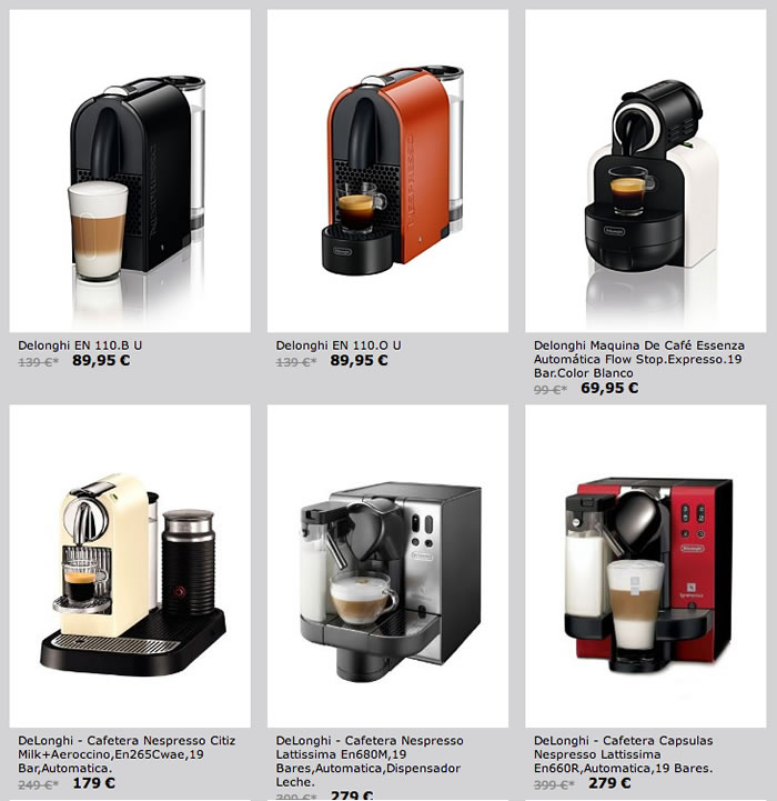 Oferta cafeteras Nespresso DeLonghi