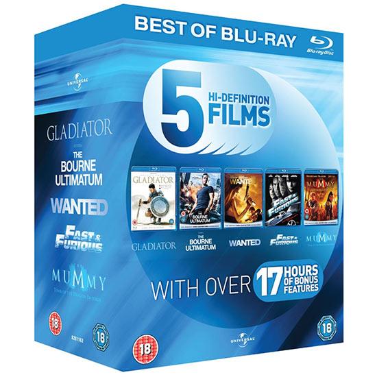 Pack de 5 películas Universal en Blu-ray por menos de 15€