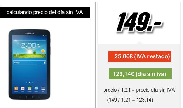 Calcular precio sin IVA
