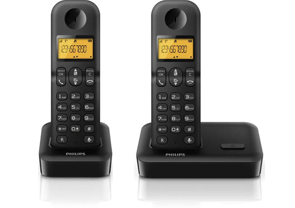 Oferta Tel 233 Fono Inal 225 Mbrico Dect Duo Philips D1502b