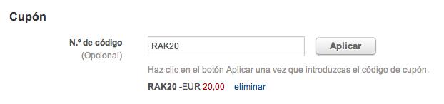 Cupón Rakuten de 20€