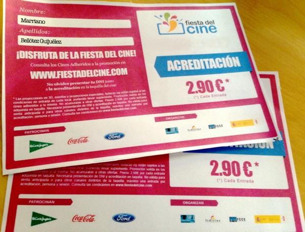 Acreditación Fiesta del Cine 2014