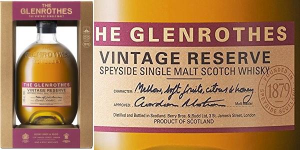 Whisky Single Malt The Glenrothes Vintage Reserve