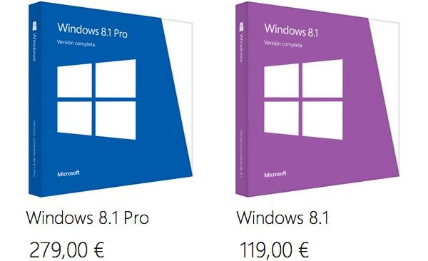 Precio Windows 8.1