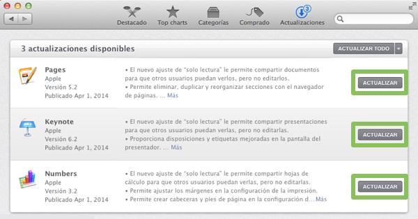 Actualizar a iWork 2013 gratis