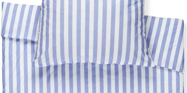 funda nordica rayas azul y blanco