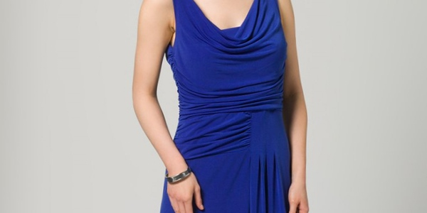 Vestido fiesta Anna Field azul