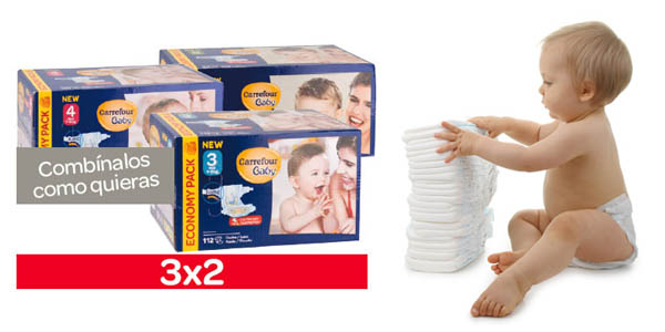 Pañales baratos Carrefour bebe