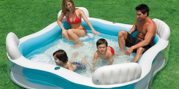 Oferta piscina hinchable intex con asientos for Piscinas para jardin baratas