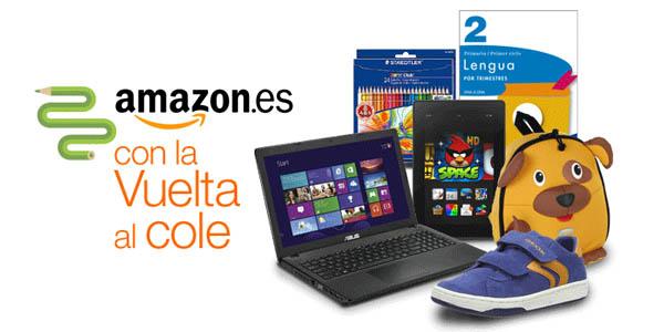 Material escolar barato en Amazon
