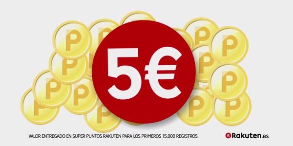 5 euros gratis en Rakuten