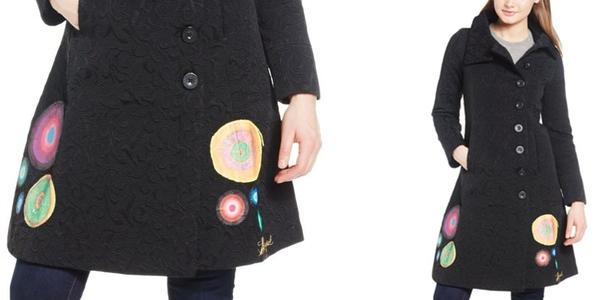 abrigo de manga larga mujer