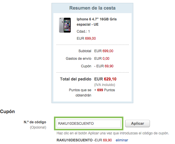 iPhone 6 con descuento