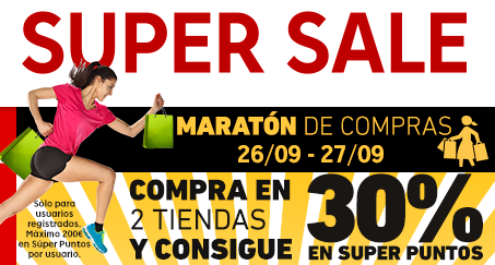 Maratón compras Super Sale Rakuten