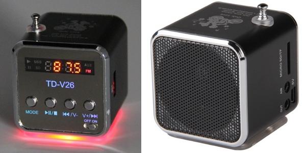 8e0cd901e Chollo mini altavoz portátil radio FM y MP3 por 5,83€