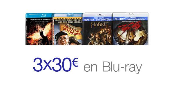 Oferta Blu-ray 3x30 euros