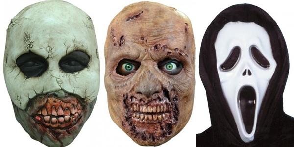 máscaras Halloween baratas
