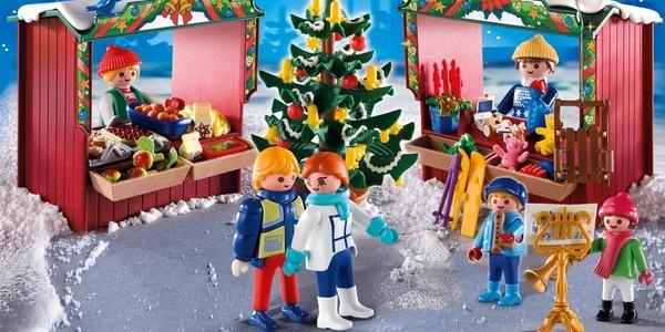 mercado navideño Playmobil