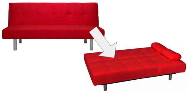 sofá cama mallorca rojo