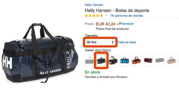 bolsa de deporte Helly Hansen oferta