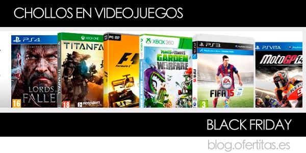 Chollos en videojuegos Black Friday 2014
