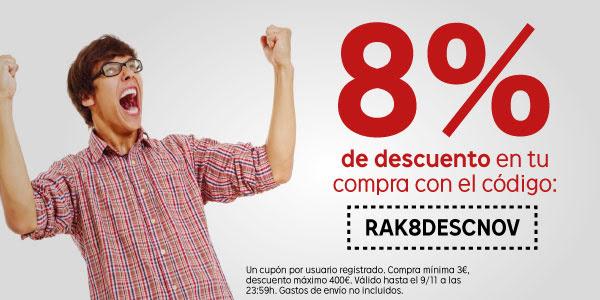 8% de descuento