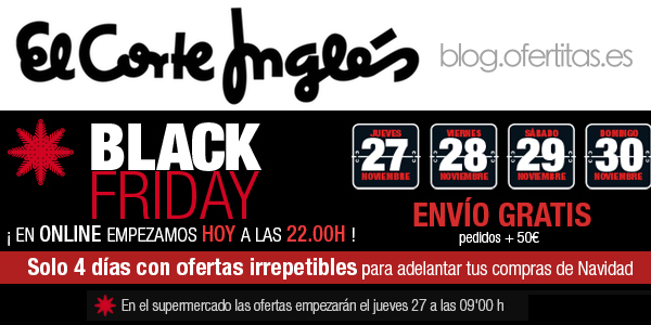 El Corte Inglés Black Friday 2014