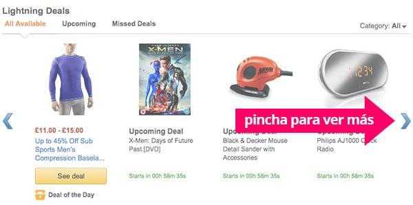 Ofertas flash de Amazon UK