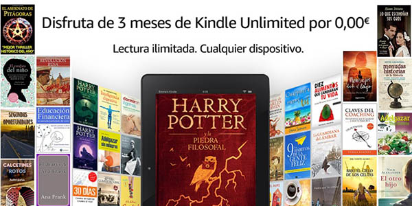 3 meses gratis de Kindle Unlimited