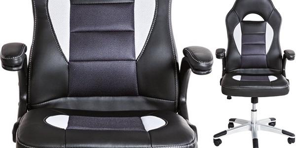 Silla de escritorio de oficina tectake por s lo 77 99 con for Silla escritorio comoda