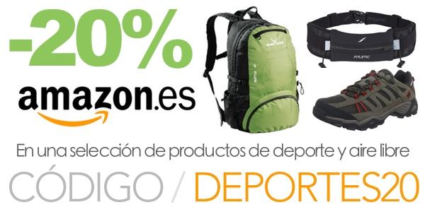 Cupón descuento Amazon Deportes 20%