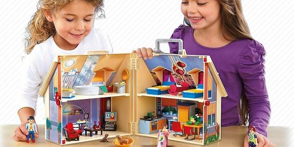Playmobil casa de mu ecas malet n por s lo 29 83 for La casa de playmobil