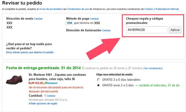 CHEQUES REGALO CODIGOS PROMOCIONALES AMAZON