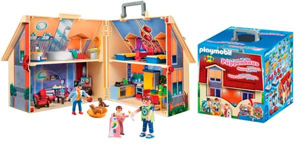 Chollo maletín casa de muñecas Playmobil Dollhouse barato en Amazon