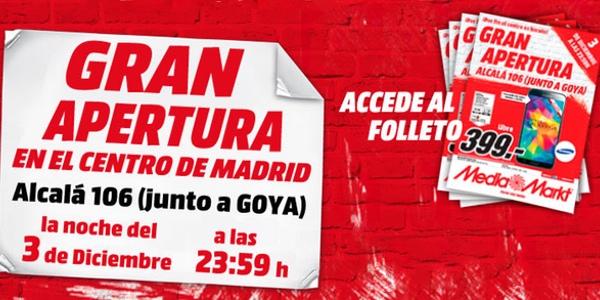 Nuevo media markt madrid en calle alcal 106 goya for Ofertas hornos media markt