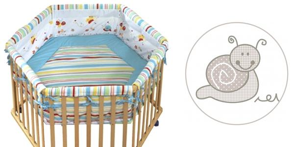 oferta parque hexagonal para bebé