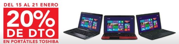20% de descuento en portátiles Toshiba