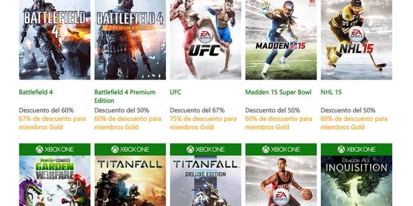 Ofertas en juegos de Xbox One