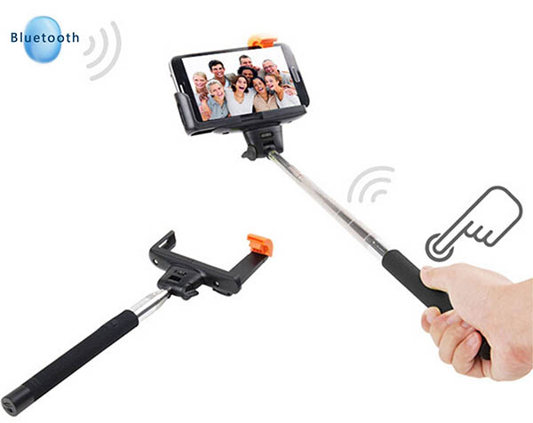 Palo para selfies con botón bluetooth integrado