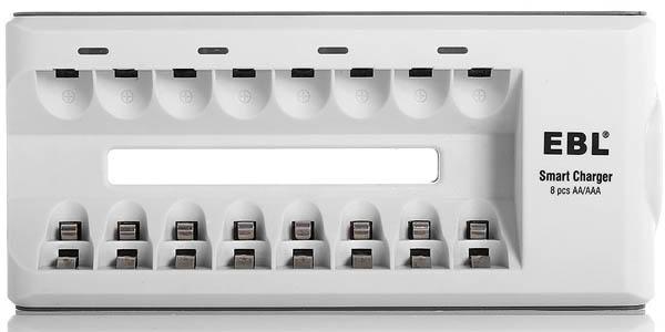 Cargador ebl 808a para 8 pilas recargables por solo 7 99 - Cargador pilas recargables ...