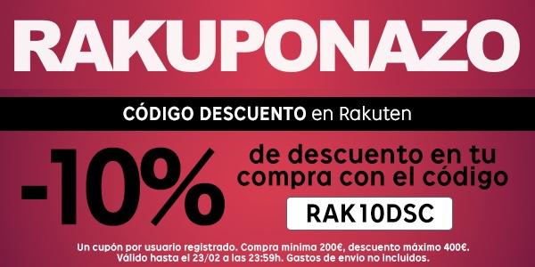 Cupón descuento Rakuten 10%