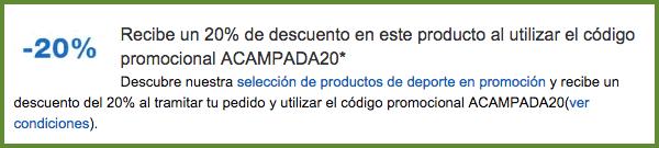 Código descuento Amazon