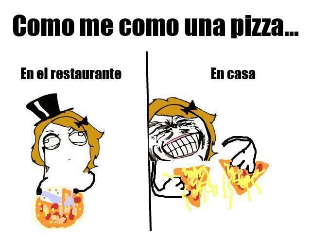 Cómo me como una pizza