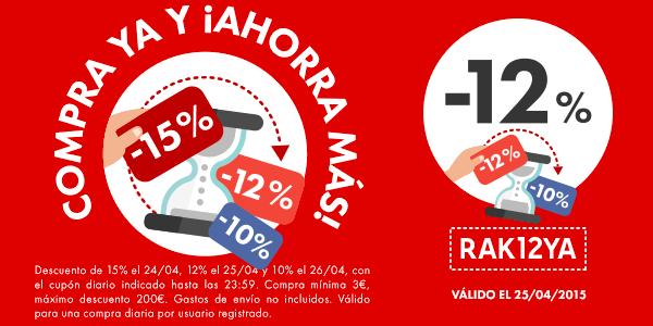 Cupón descuento 12% Rakuten 25-04-2015