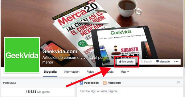 Facebook Geekvida en español