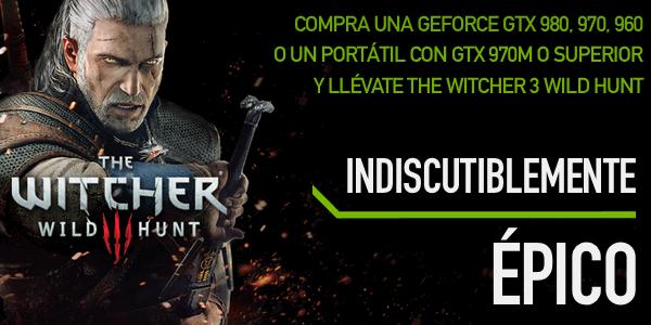The Witcher 3 gratis al comprar una tarjeta NVIDIA