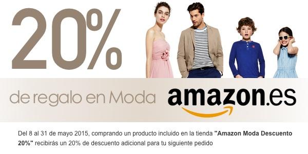 20% de descuento ropa Amazon