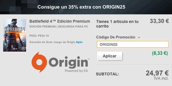 Cupón descuento Origin 35%