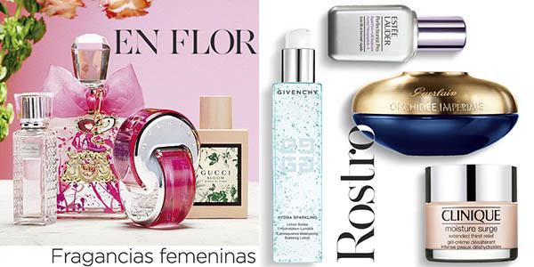 promoción en perfumes y cremas Secretos de Belleza en El Corte Inglés con grandes descuentos